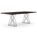 Modloft Curzon Smoked Oak Modern Dining Table with Truss Base