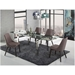Cutty Gray Fabric + Wenge Wood Contemporary Dining Side Chair