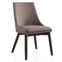 Cutty Gray Fabric + Wenge Wood Modern Dining Side Chair