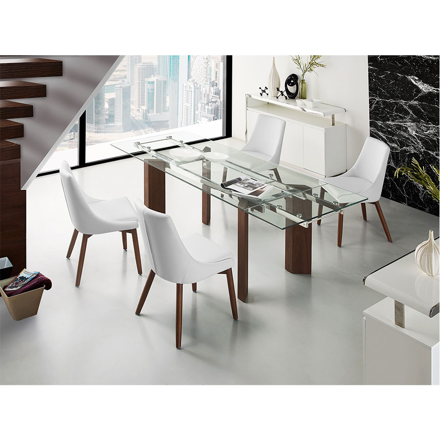 Cutty White Wenge Modern Dining Chair Eurway