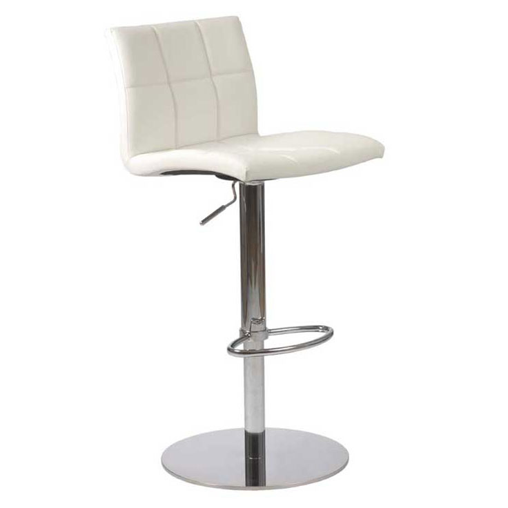 Cyd modern adjustable stool in white