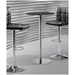 Cyclone Modern Bar Table with Black Glass