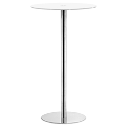 Cyclone Modern White Bar Height Table
