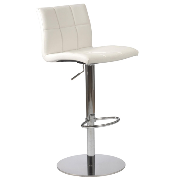 Cyd Modern White Adjustable Stool