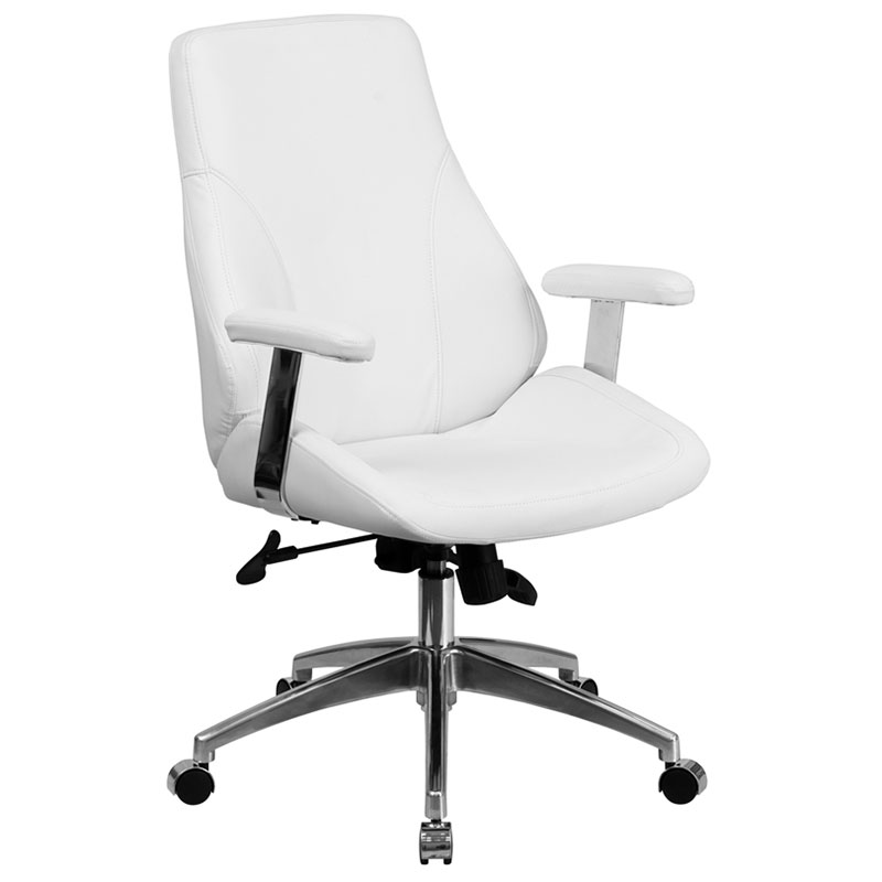 Dabby Modern Mid Back White Office Chair