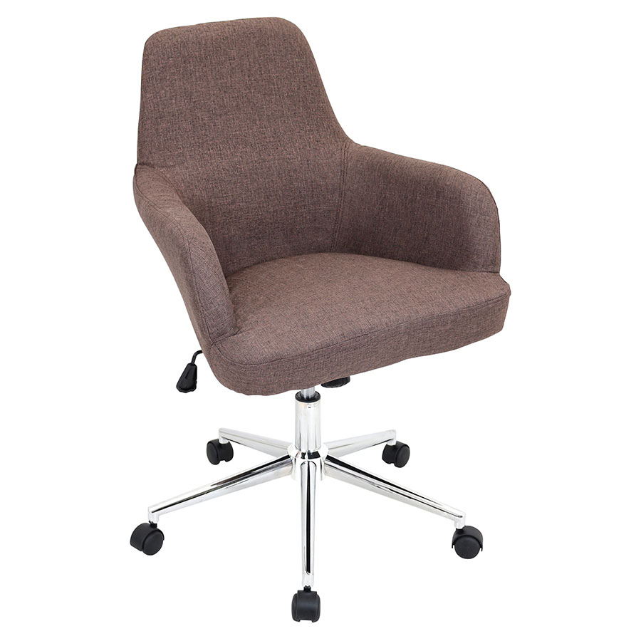 Daffodil Brown Modern Office Chair