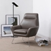 Daiana Dark Gray Contemporary Leather Chair by Whiteline