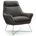 Daiana Dark Gray Modern Leather Chair by Whiteline