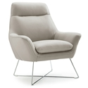 Daiana Light Gray Modern Leather Chair by Whiteline