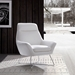 Daiana White Contemporary Leather Chair by Whiteline