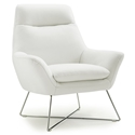 Daiana White Modern Leather Chair by Whiteline