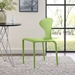 Dakota Modern Green Indoor Outdoor Side Chair