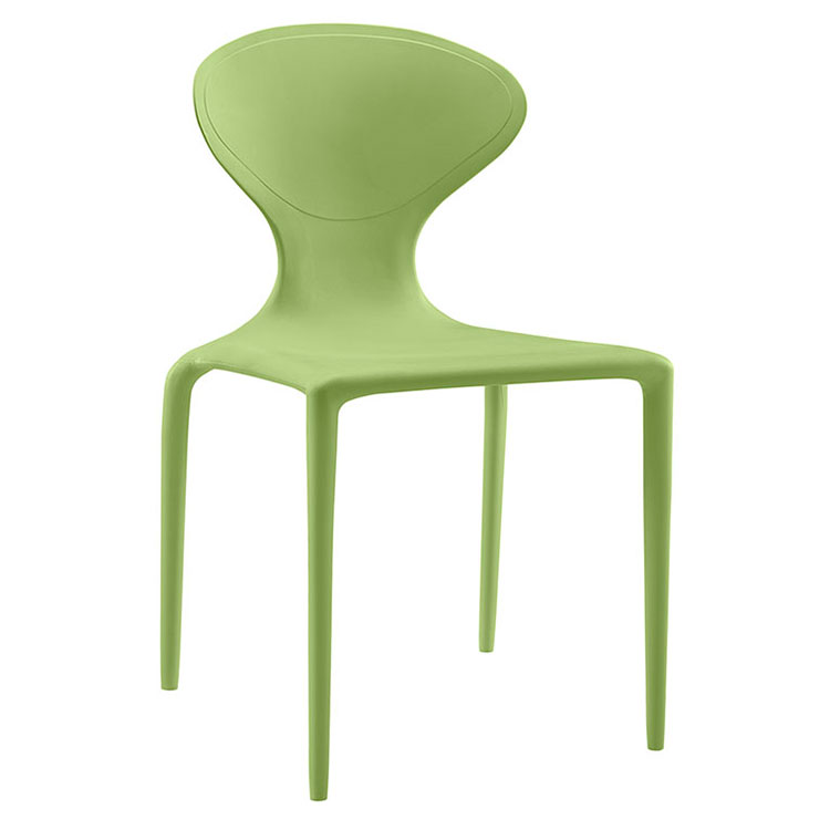 Dakota Green Modern Indoor Outdoor Dining Chair