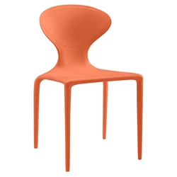 Dakota Orange Modern Indoor Outdoor Dining Chair