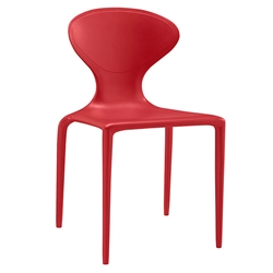 Dakota Red Modern Indoor Outdoor Dining Chair
