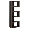 Dallas Modern Bookcase in Cappuccino