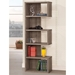 Dallas Contemporary Weathered Gray Bookcase