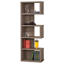 Dallas Modern Bookcase in Weathered Gray