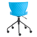 Daly Blue Plastic and Black Metal Modern Task Office Chair