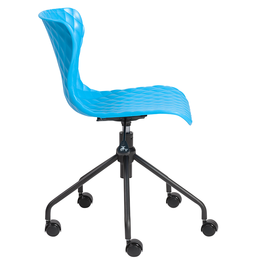 ... Daly Blue And Black Modern Task Office Chair ...