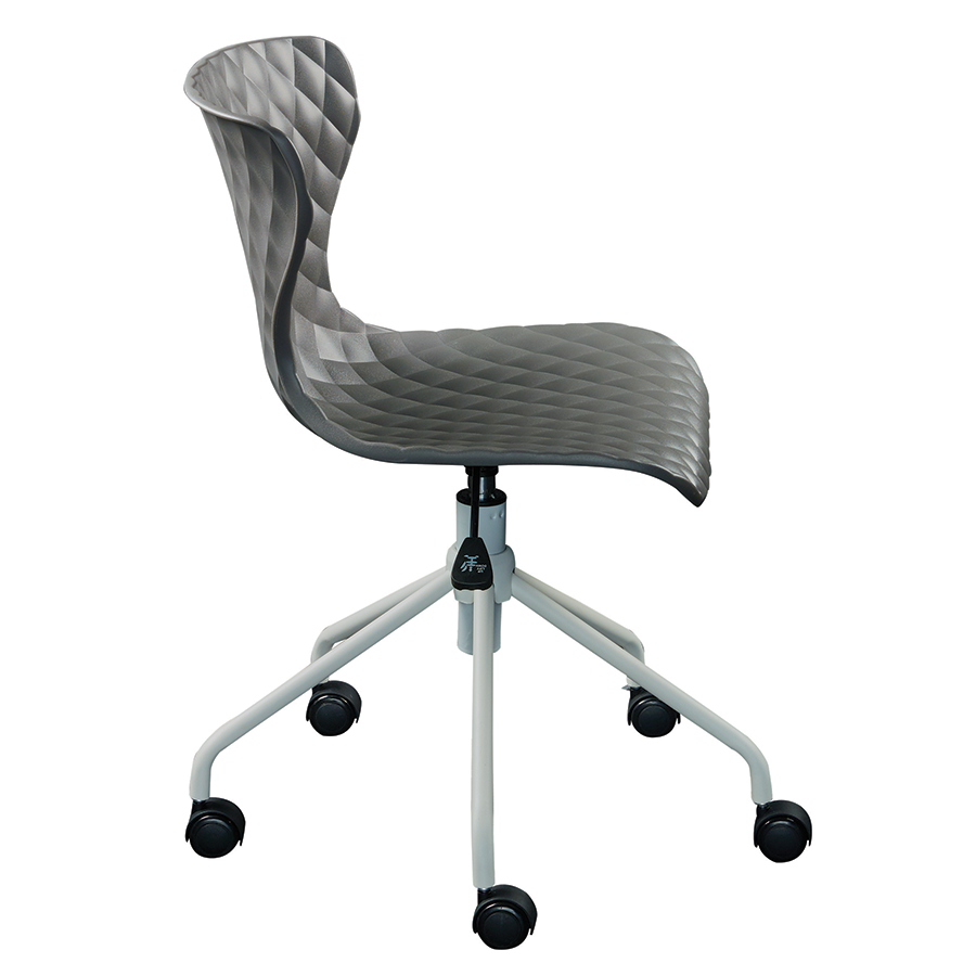 modern office chairs  daly gray task chair  eurway -  daly gray polypropylene modern task chair