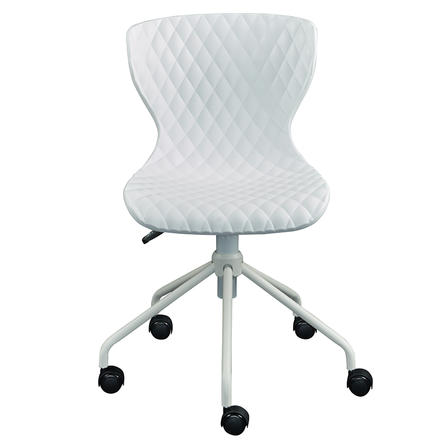 ... Daly White Contemporary Task Chair ...  sc 1 st  Eurway & Modern Office Chairs | Daly White Task Chair | Eurway