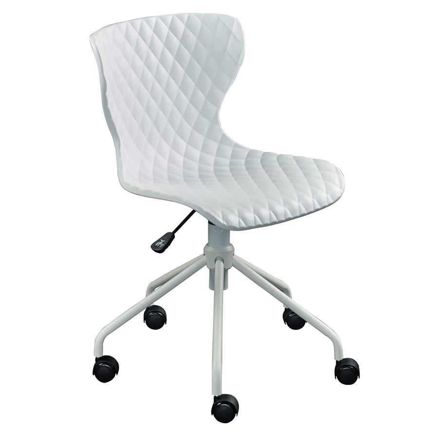 Modern office chairs daly white task chair eurway for Modern white office chair