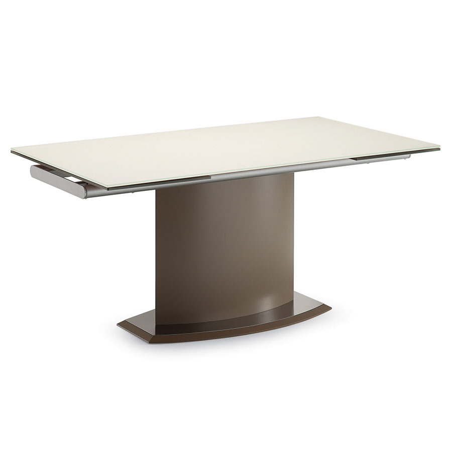 Danae Modern Taupe Extension Dining Table By Domitalia