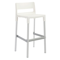 Danbury Modern Outdoor Bar Stool in Linen