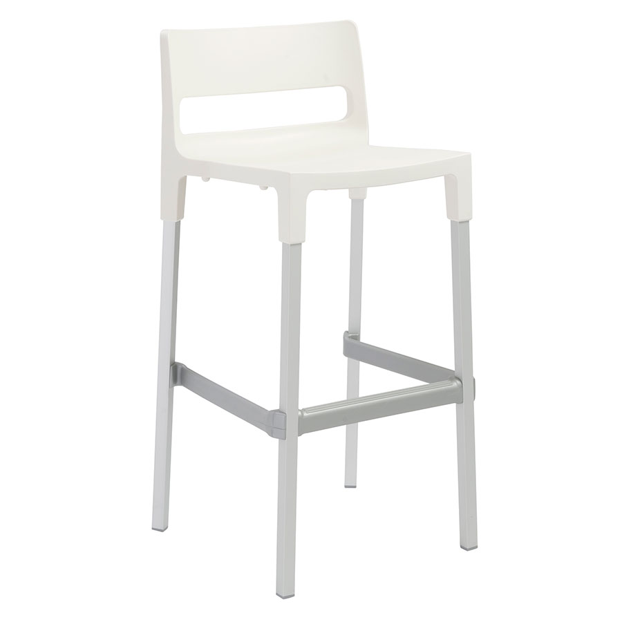 Divo-B Modern Outdoor Bar Stool in Linen