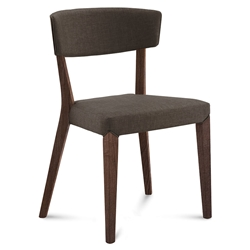 Dane Chocolate + Brown Modern Dining Chair