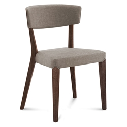 Dane Chocolate + Tan Modern Dining Chair