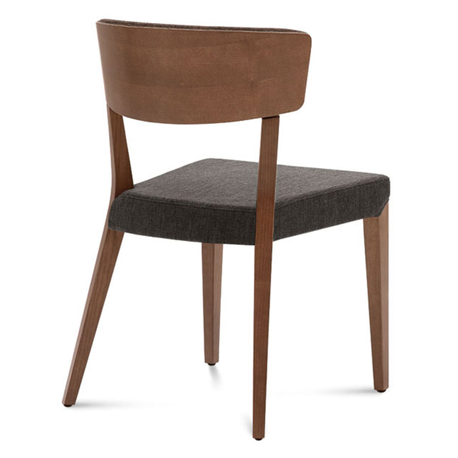 Modern dining chairs dane walnut brown chair eurway for Walnut dining chairs modern