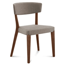 Dane Walnut + Tan Modern Dining Chair