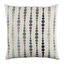 "Danette 18"" Denim Modern Pillow"