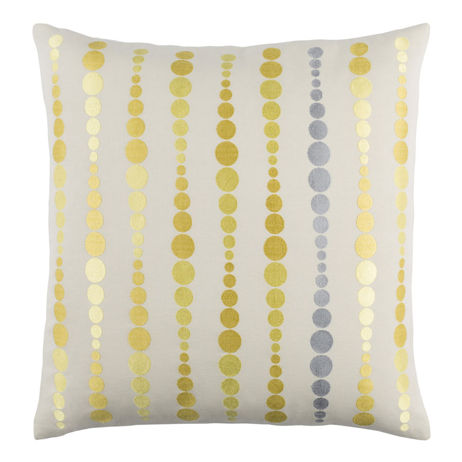 "Danette 18"" Yellow Modern Pillow"