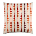 "Danette 20"" Orange Modern Pillow"