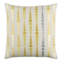 "Danette 20"" Yellow Modern Pillow"