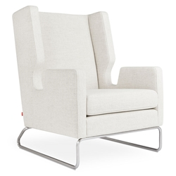 Gus* Modern Danforth Modern Lounge Chair in Huron Ivory