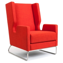 Danforth Contemporary Lounge Chair in Laurentian Sunset