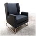 Danforth Contemporary Lounge Chair in Urban Tweed Ink - Lifestyle