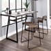 Danielle Contemporary Low Back Counter Stools