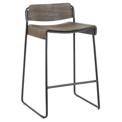 Danielle Modern Low Back Counter Stool