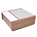 Dann Contemporary Coffee Table In Walnut