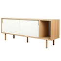 Dann Oak + White Contemporary Sideboard by TemaHome