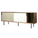 Dann Walnut + White + Gray + Black Contemporary Sideboard by TemaHome