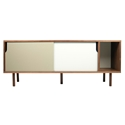 Dann Walnut + White + Gray Contemporary Sideboard by TemaHome