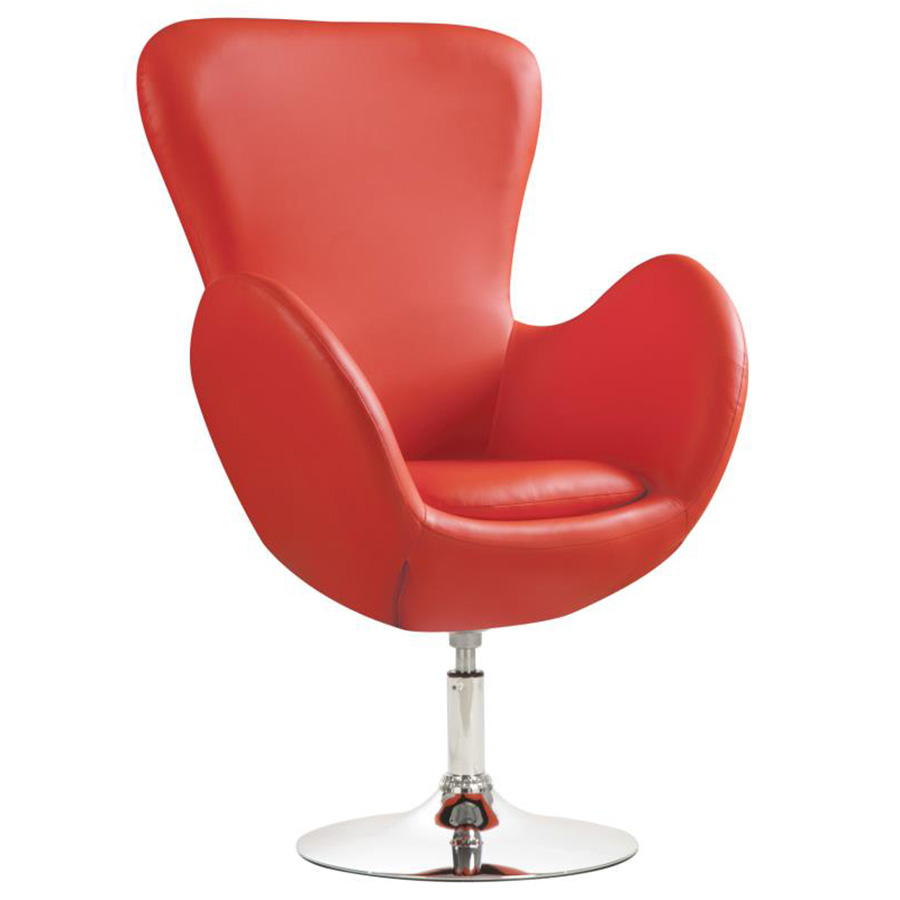 Dansk Modern Red Swivel Lounge Chair
