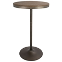 Dante Antique Metal + Distressed Wood Modern Industrial Bar + Dining Table