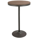 Dante Gray Metal + Distressed Wood Modern Industrial Bar + Dining Table